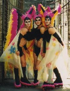 Wigstock 1999 --Las Vegas show girl butterflies on rollerblades