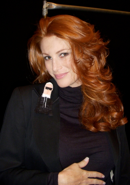 Karl loves Angie Everhart. Supermodels rule.