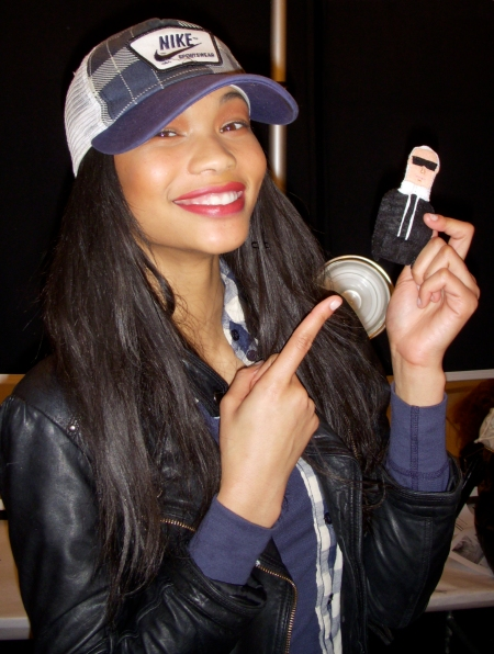 Model Chanel Iman thinks Karl should use her in his shows!!!!