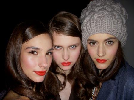 Twinkle models backstage. LOVED THEM!