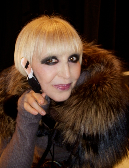Venexiana designer Kati Stern. Karl loves real fur. Sorry PETA.