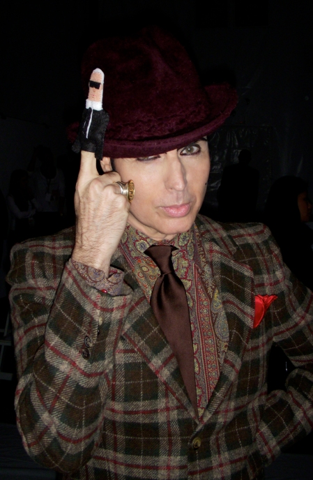 Patrick McDonald knows Karl makes a fierce hat accessory.