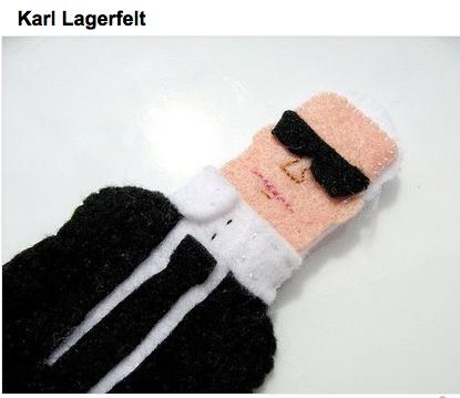 Finger puppet Karl--skinny as ever!