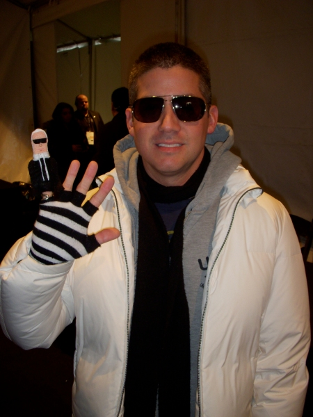 Barbie designer Robert Best always wears gloves to match Karl