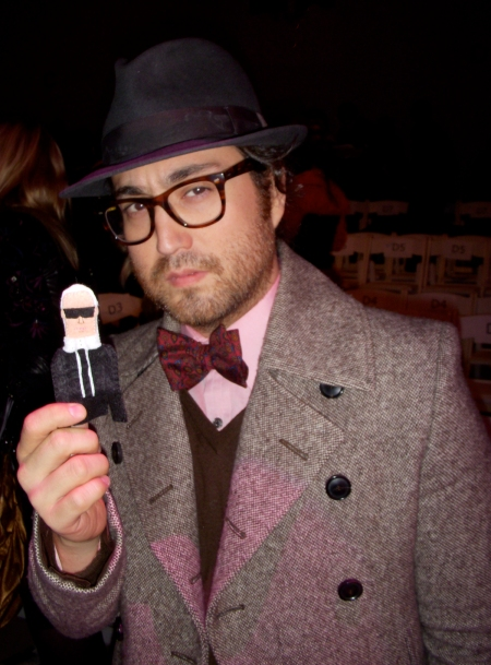 Sean Lennon thinks Karl is too serious.