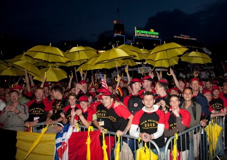 Team Belgium at Opening Ceremonies