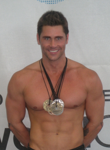 Big Gay Michael Phelps with 8 medals